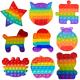 Push & Pop Rainbow Bubble Fidget Toys - Assorted Shapes