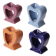 Ceramic Heart Shaped Oil Burners - Assorted Colours