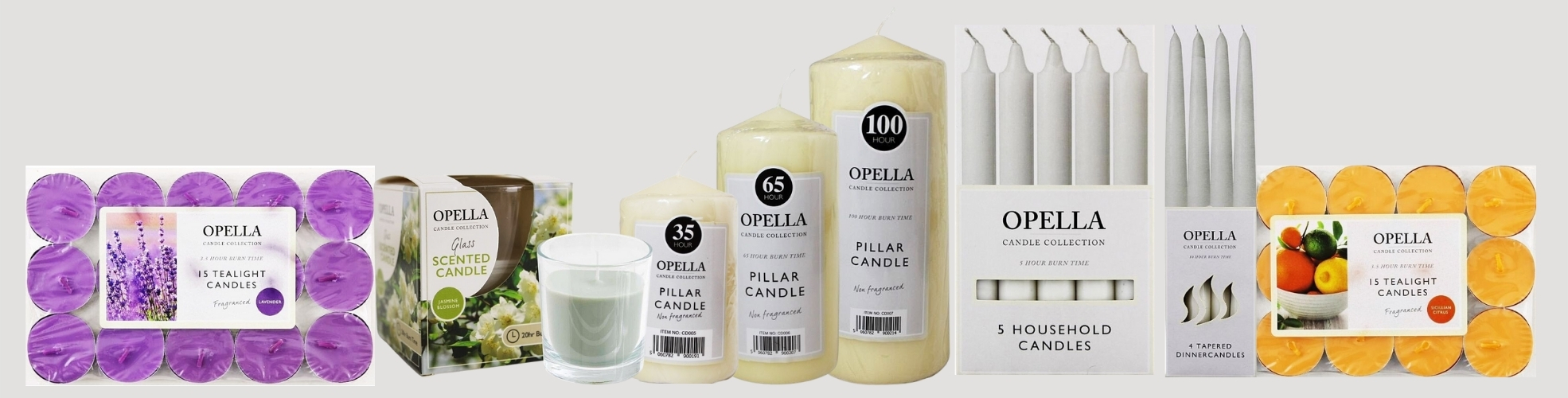 Brose our range of wholesale candles available in a wide range of variety; Opella Candles, Birthday Candles, Candle Holders, Candle Snuffer, Dinner Candles, Jar Candles, Pillar Candles, Novelty Candles, Magic Spell Candles, Scented Candles, Tealight Candles and many more
