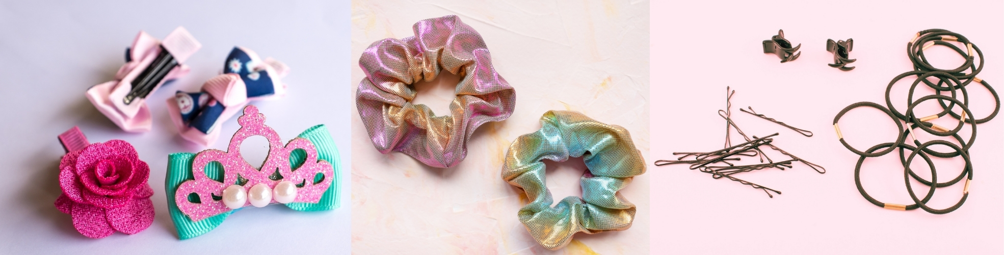 Browse our range of wholesale hair accessories available in a variety of colours, designs and styles. Perfect hair accessories for back to school, everyday use or styling.