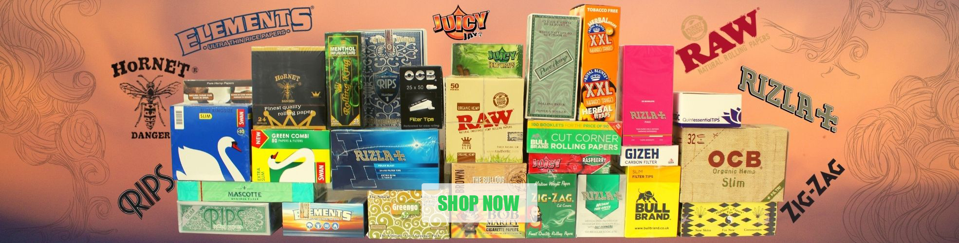 Wholesale Rizla Raw Rips Smoking Papers